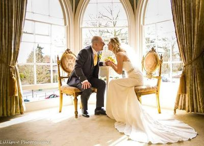 Bride and Groom Portraits at Warwick House Honeymoon suite