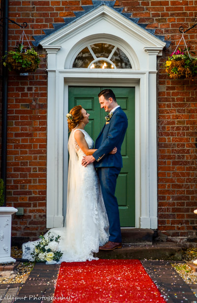 Bride and groom portraits. Autumn wedding photography. West Midlands Wedding Photography. The Barns Hotel Cannock. Country House Wedding