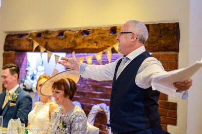 Wedding speeches Father of the bride West Midlands Wedding Photographer. The Barns Hotel Cannock