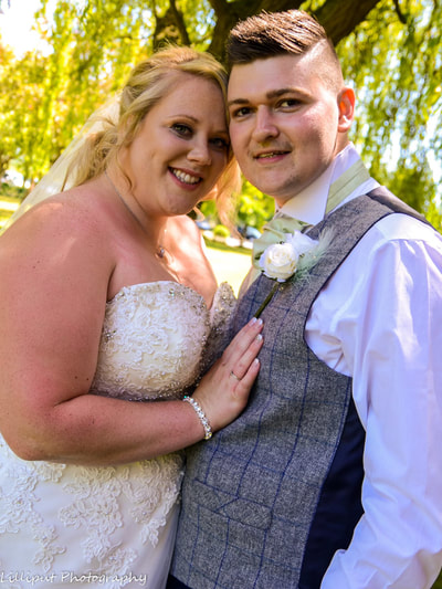 Bride and groom wedding portrait by Lilliput Photography, West Midlands Wedding Photographer
